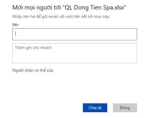tu-hoc-cach-share-file-excel-qua-mang-cho-nhieu-nguoi-cung-lam-viec-Excel-Online-nhap-email-chia-se